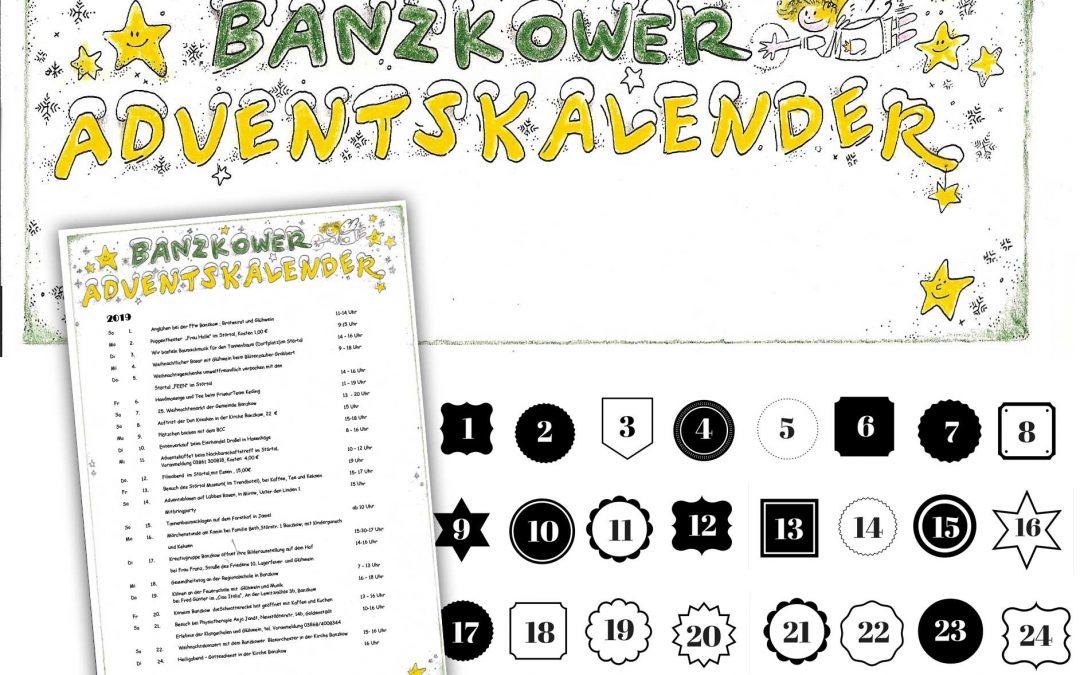 Banzkower Adventskalender 01.12. – 24.12.2019 … auch als Download
